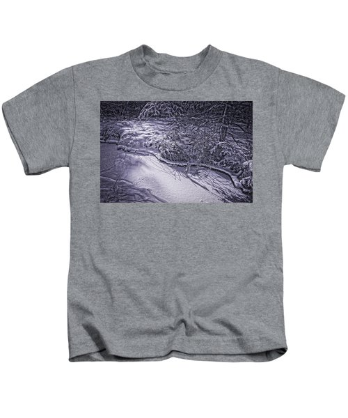 Silver Brook In Winter Kids T-Shirt
