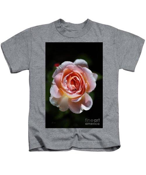 Single Romantic Rose  Kids T-Shirt