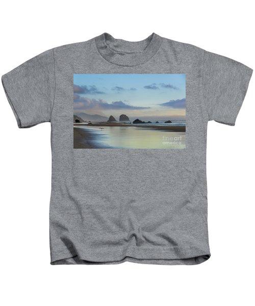Skimming Along The Beach At Sunset Kids T-Shirt