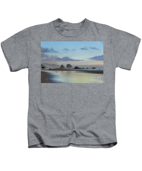 Skimming Along The Beach At Sunset Kids T-Shirt