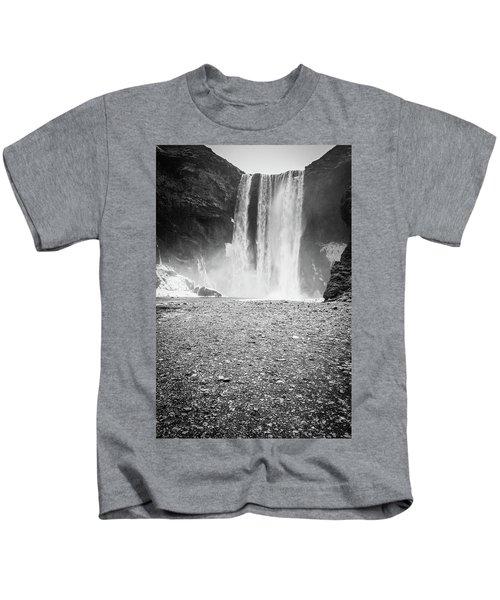 Skogafoss In Winter Kids T-Shirt