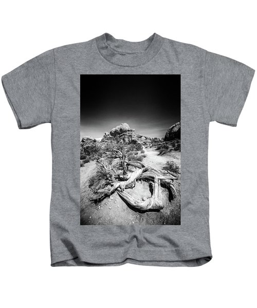 Skyline Arch In Arches National Park Kids T-Shirt