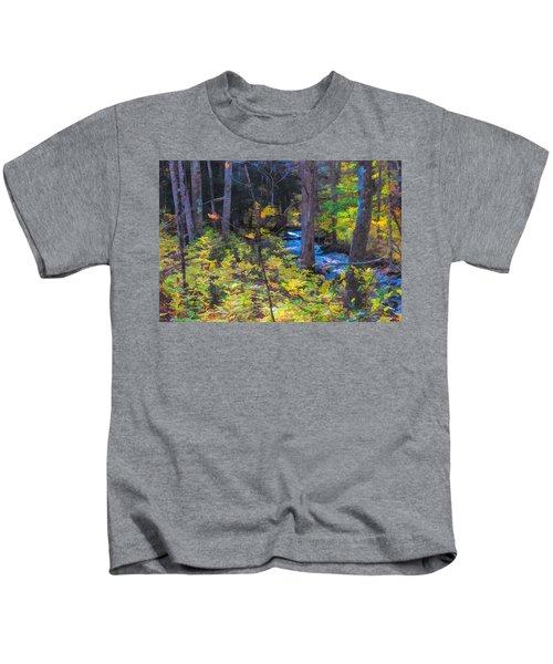 Small Stream Through Autumn Woods Kids T-Shirt