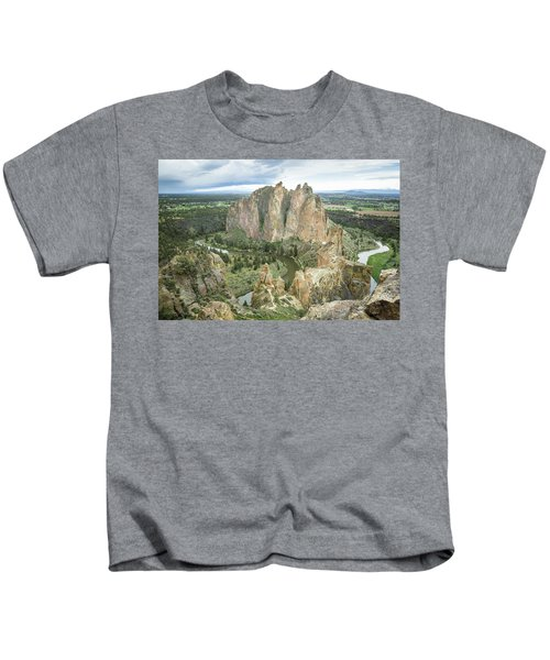 Smith Rock From Misery Ridge Kids T-Shirt