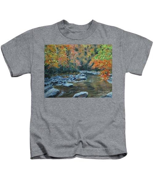 Smokey Mountain Autumn Kids T-Shirt