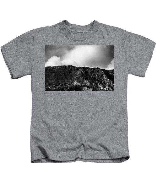 Smoking Volcano Kids T-Shirt