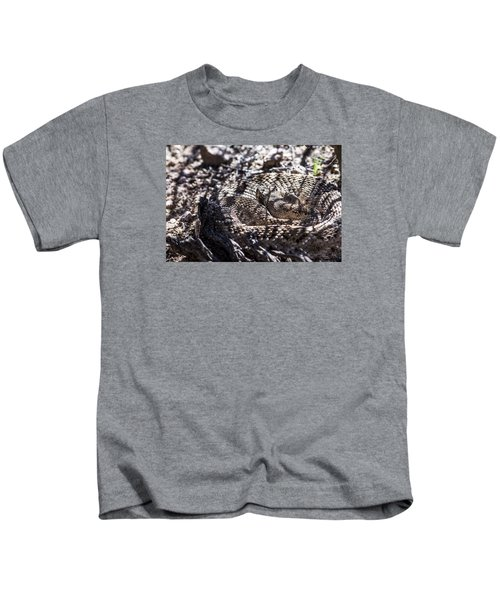 Snake In The Shadows Kids T-Shirt by Chuck Brown