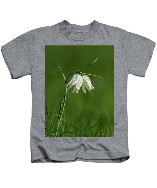 Snake's Head With Two White Bells Kids T-Shirt