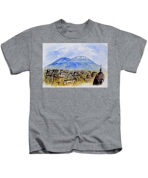 Snow Capped Vesuvio Kids T-Shirt