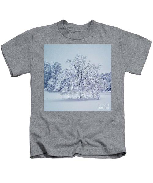 Snow Encrusted Tree Kids T-Shirt
