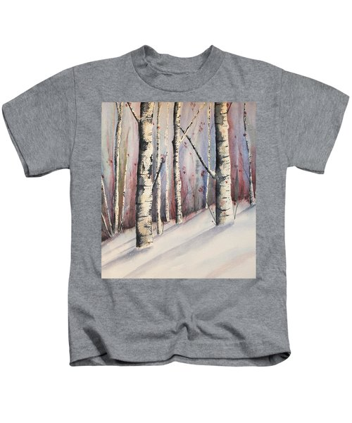 Snow In Birches Kids T-Shirt