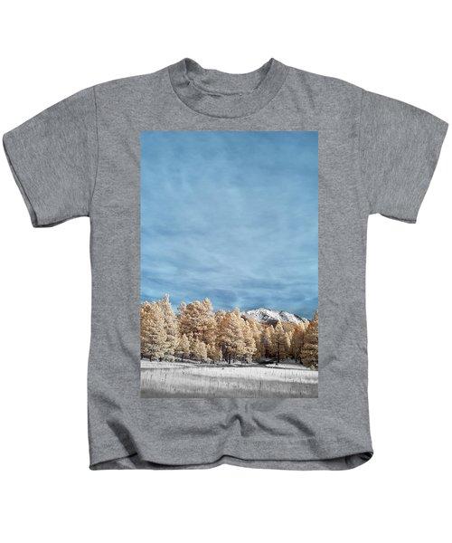 Snow In Flagstaff Kids T-Shirt