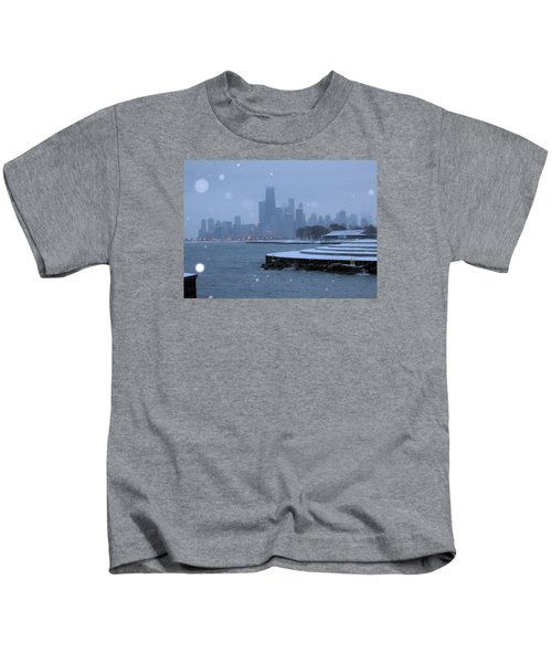 Snowy Chicago Kids T-Shirt