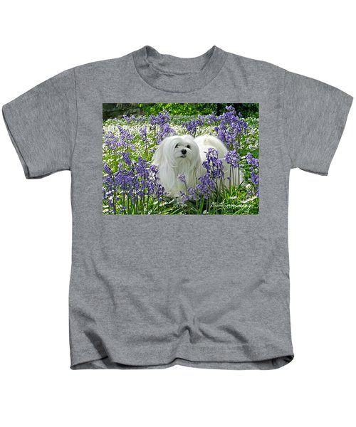 Snowdrop In The Bluebell Woods Kids T-Shirt