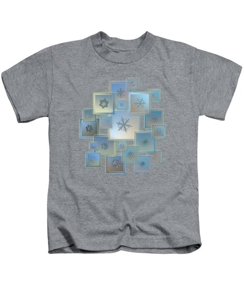 Snowflake Collage - Bright Crystals 2012-2014 Kids T-Shirt