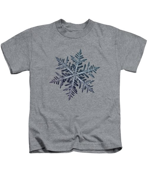Snowflake Photo - Neon Kids T-Shirt