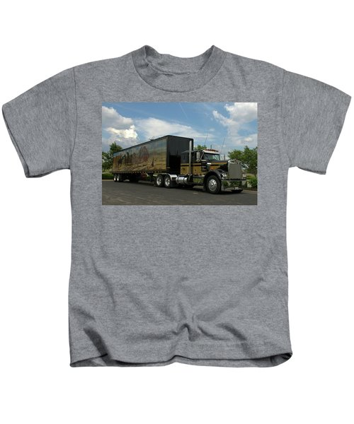 Snowmans Dream Replica Semi Trruck Kids T-Shirt