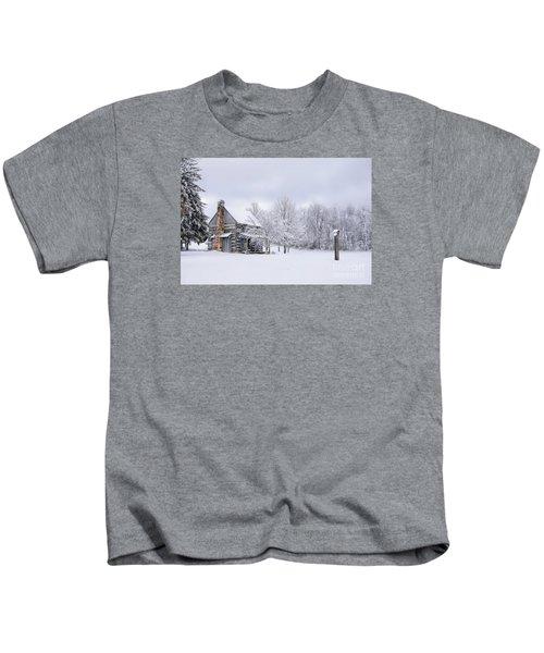 Snowy Cabin Kids T-Shirt