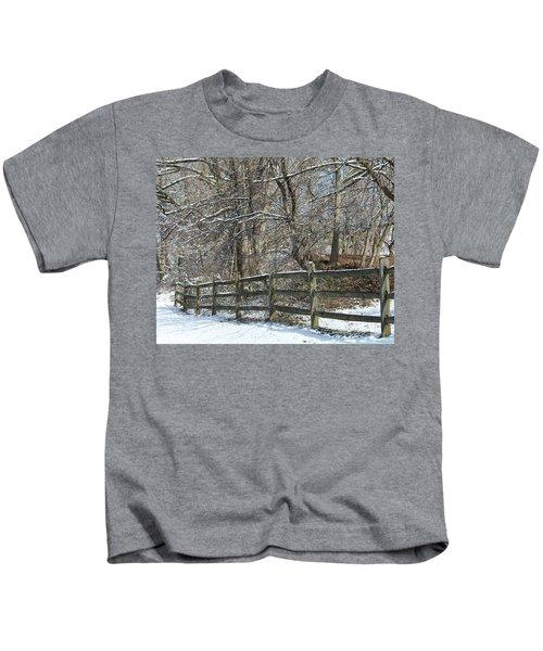 Winter Fence Kids T-Shirt