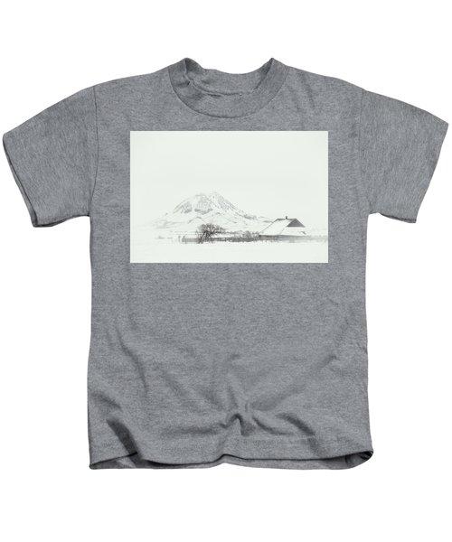 Snowy Sunrise Kids T-Shirt