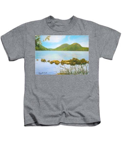 Soft Art Photograph Jordan Pond Acadia Nat. Park Maine Kids T-Shirt