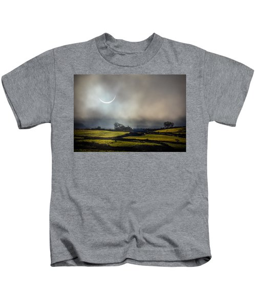 Solar Eclipse Over County Clare Countryside Kids T-Shirt