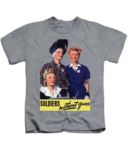 Soldiers Without Guns - Women War Workers - Ww2  Kids T-Shirt
