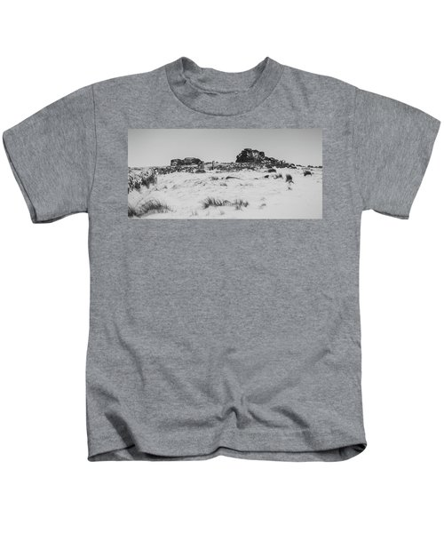 South Hessary Tor In The Snow Kids T-Shirt