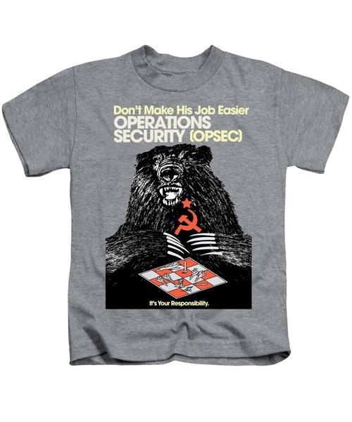 Soviet Threat - Usaf Opsec Vintage 80's Print Kids T-Shirt