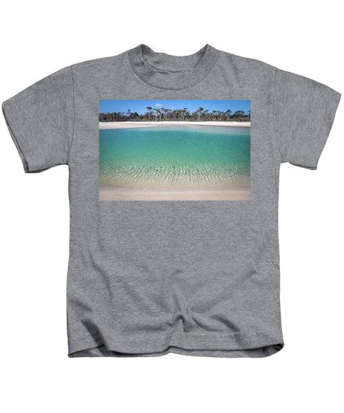 Sparkling Beach Lagoon On Deserted Beach Kids T-Shirt