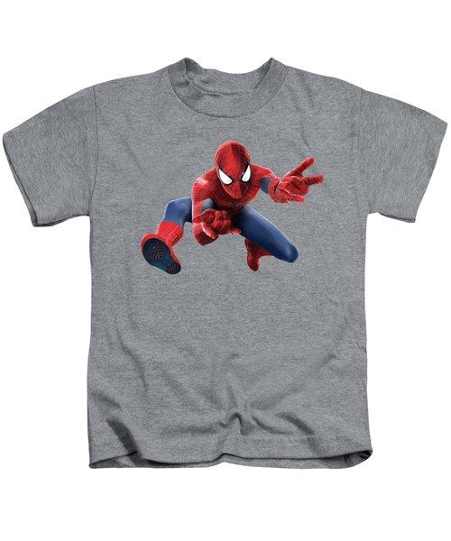 Spider Man Splash Super Hero Series Kids T-Shirt by Movie Poster Prints