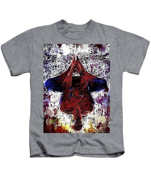 Spiderman Hanging Around Kids T-Shirt