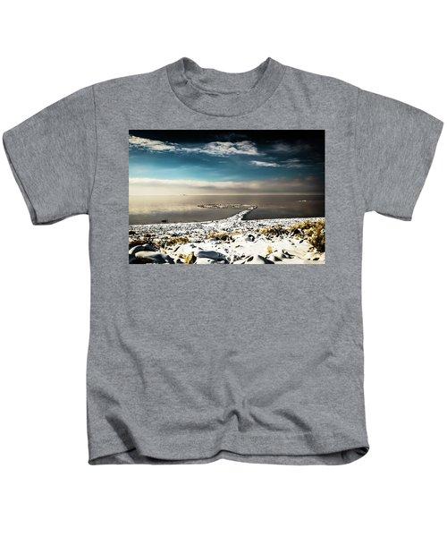 Spiral Jetty In Winter Kids T-Shirt