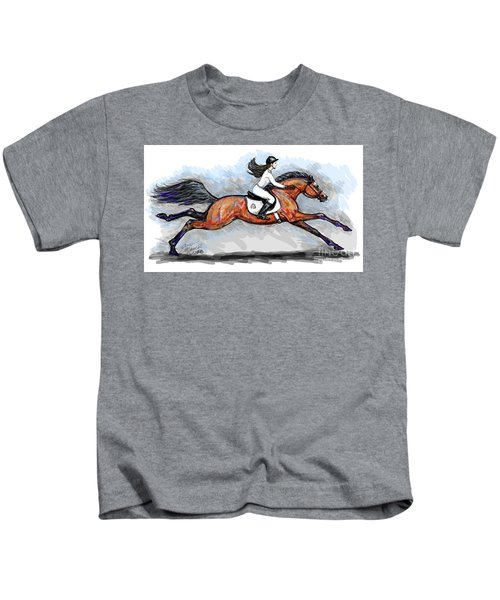 Sport Horse Rider Kids T-Shirt