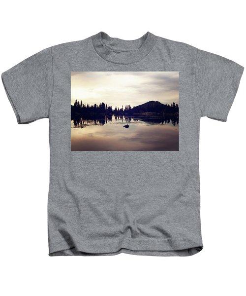 Sprague Lake At Sunset Kids T-Shirt