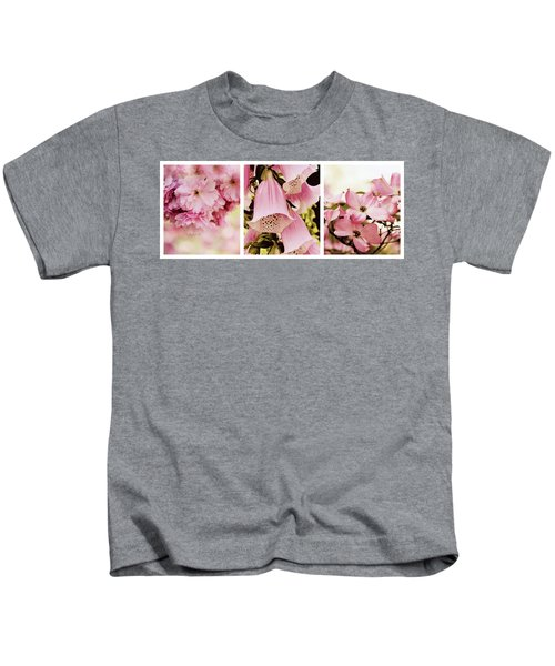Spring Assemblage Triptych Kids T-Shirt
