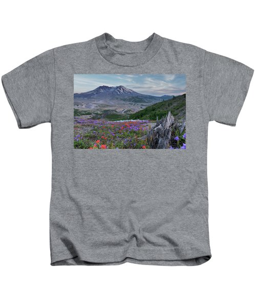Spring Bloom Mt St Helens Kids T-Shirt