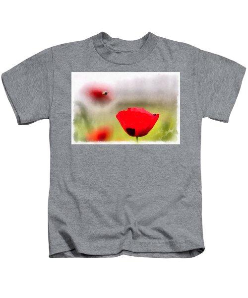 Spring Flowering Poppies Kids T-Shirt