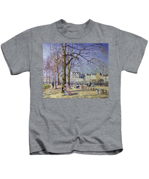 Spring In Hyde Park Kids T-Shirt by Alice Taite Fanner