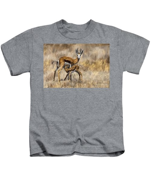 Springbok Mom And Calf Kids T-Shirt