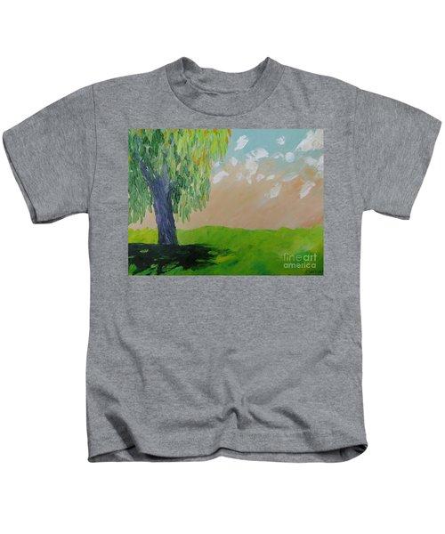 Springtime Willow Kids T-Shirt
