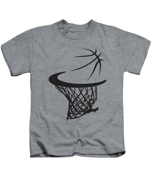 Spurs Basketball Hoop Kids T-Shirt