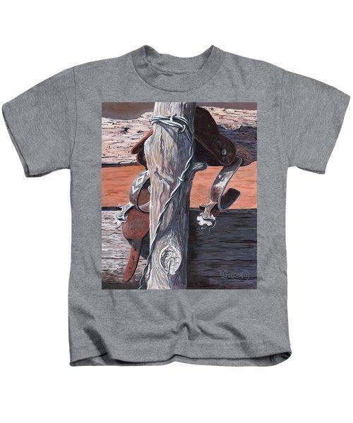 Spurs Needing Boots Kids T-Shirt