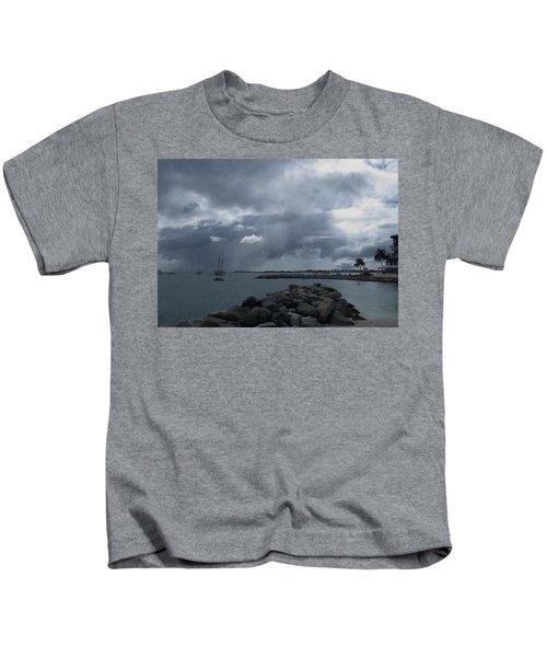 Squall In Simpson Bay St Maarten Kids T-Shirt