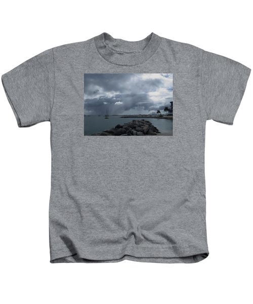 Squall In Simpson Bay St Maarten Kids T-Shirt