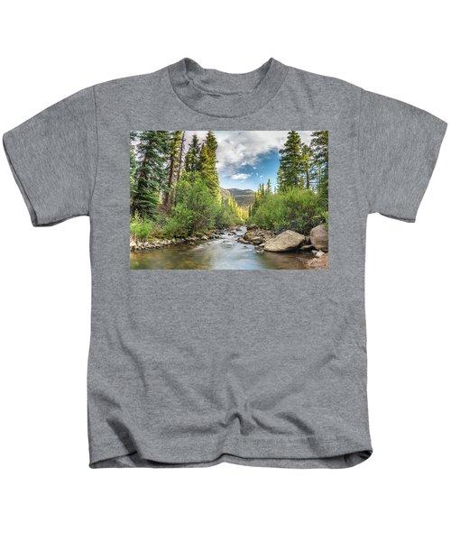 Squaw Creek, Colorado Kids T-Shirt