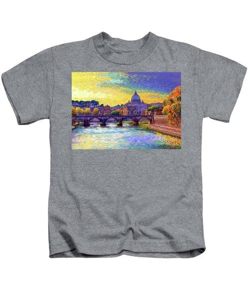 St Angelo Bridge Ponte St Angelo Rome Kids T-Shirt