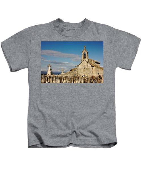 St. Pantaleon Church,  Luberon, France Kids T-Shirt