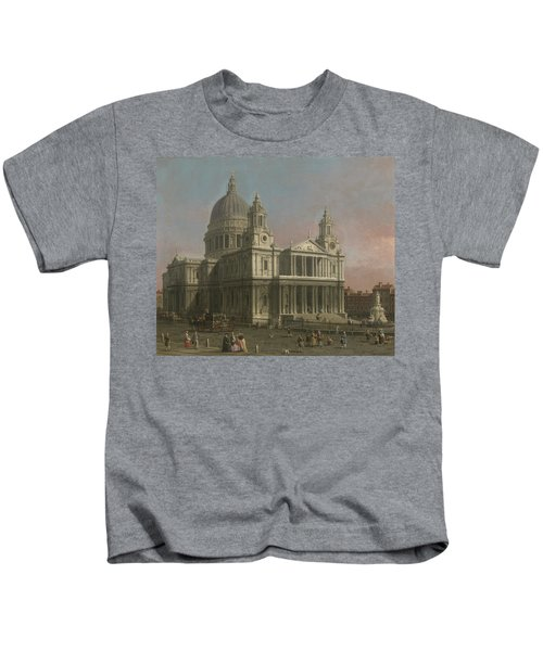St. Paul's Cathedral Kids T-Shirt by Giovanni Antonio Canaletto