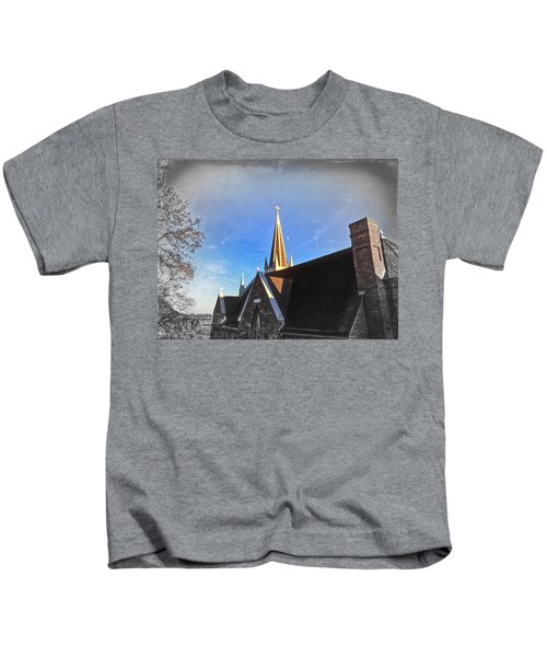 Kids T-Shirt featuring the photograph St. Peter's Spire by Chris Montcalmo